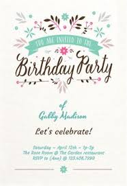 birthday decorations printable invitation template customize add