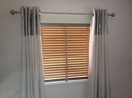 Wooden Blinds With Curtains Curtain Poles Curtain Day Blinds In Nottingham