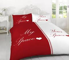 my side your side double duvet set quilt bed bedding with pillow