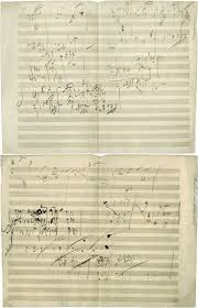 paper writing music 511 best music historic manuscripts and autographs images on description beethoven opus 101 manuscript