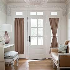 Amazon Door Curtains Amazon Com Nicetown Sliding Door Curtain Panel Total Privacy