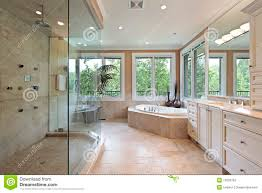 master bath with large shower royalty free stock image image