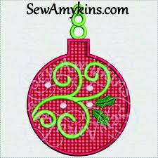 christmas applique christmas applique ornament swirl embroidery design 2