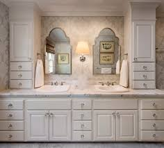 paint grade bathroom vanity with glass knobs polished chrome