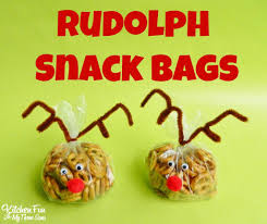 rudolph red nosed reindeer snack bags kitchen fun 3 sons