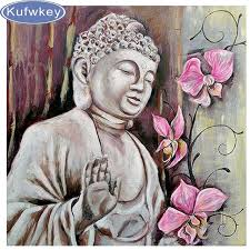 Buddha Room Decor Aliexpress Com Buy Kufwkey 5d Diamond Painting Modnna Buddha