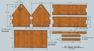 free wood toolbox plan