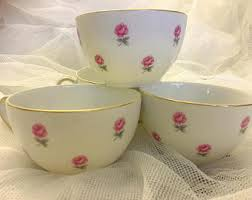 roses teacups pink teacups etsy