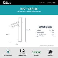 kraus ino vessel single handle bathroom faucet with custom