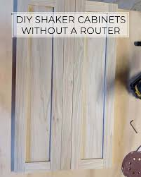 how to make simple shaker cabinet doors how to make shaker cabinet doors with kreg jig crafted by