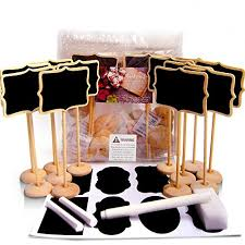 candy buffet tags efoxmoko 12 mini chalkboard signs with stand