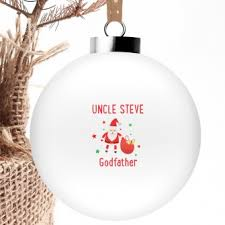 personalised christmas bauble godfather personalised