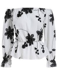 the shoulder black blouse shein fashion shop de shein sheinside sale
