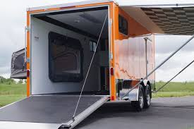 V Nose Enclosed Trailer Cabinets by Complete Trailers Llcselect Popout Sleeper Custom Steel