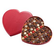 heart box of chocolates neuhaus assorted chocolate heart 80 pcs delivery in germany by