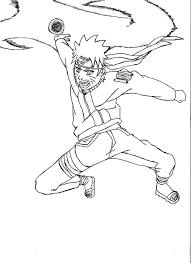 free printable naruto coloring pages kids