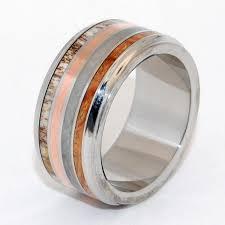 blue moose wedding band minter richter titanium rings unique wedding rings