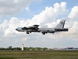 ghost rider u0027 in the sky b 52 departs tinker in historic flight