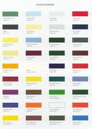 auto paint codes classic car hub triumph paint colours and