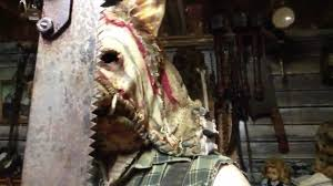 grim stitch factory butcher pig halloween mask demo youtube