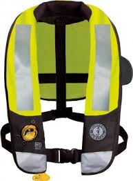 class v pfd mustang t3 high visibility deluxe auto type v pfd