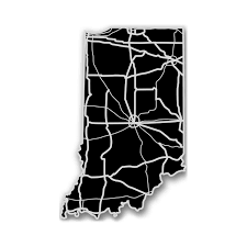 Indiana State Map Indiana Acrylic Cutout State Map Modern Crowd Touch Of Modern