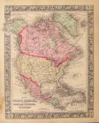 Usa Map 1860 by Prints Old U0026 Rare North America Page