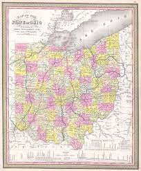 State Of Ohio Map by File 1850 Mitchell Map Of Ohio Geographicus Ohio M 50 Jpg