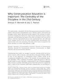 why communication education is important the centrality of the