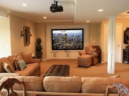 contemporary home interior design basement cool inexpensive basement finishing ideas with tv built