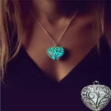 fancy glowing necklace pendant necklace luminous