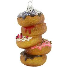 donut stack glass ornament bronner s