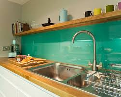 gorgeous green backsplashes for modern kitchen design idea and