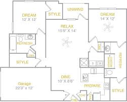 Garage Floor Plans by Luxury One Two U0026 Three Bedroom Apartment Homes With Spacious