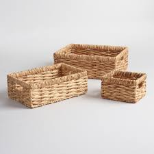 White Wicker Bookcase by Baskets Decorative Storage U0026 Wicker Weave Baskets World Market