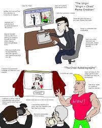 Meme Creation - the virgin virgin v chad meme creation vs the chad autobiography