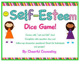 printable question dice self esteem dice game by cheerful counseling teachers pay teachers