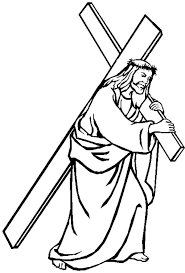 good friday coloring pages jesus carrying cross batch coloring