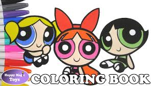 the powerpuff girls coloring book pages buttercup blossom bubbles