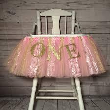 Skirted Vanity Chair Pink And Gold High Chair Tutu High Chair Skirt Highchair