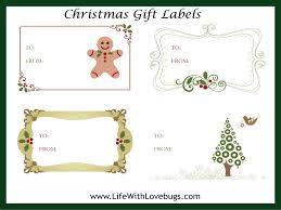 free christmas gift tag label printable christmas pinterest