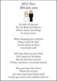 money registry wedding money poems instead of a registry s getting married