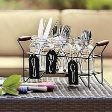 Silverware Caddy For Buffet by Flatware Caddy Set Dining Picnic Buffet Organizer Glass Country