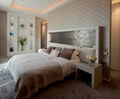 papier peint original chambre design interieur plafond corniche lumineuse tête lit originale mur