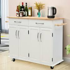 kitchen storage cupboard on wheels kitchen wooden trolley cart rolling storage cabinet island cupboard wheels white ebay