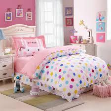 Cotton Bedding Sets Colorful Polka Dot Comforter Bedding Sets Size 100