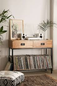 lps storage at casper industrial wooden console urban outfitters