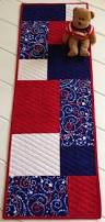 patriotic quilted table runner independence day by lawsoncreations