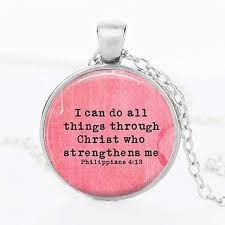 all necklace images Suteyi classic jesus letter necklace women 39 i can do all things jpg