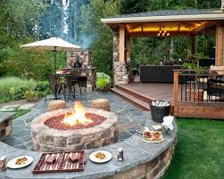 Patio And Firepit Backyard Patio Firepit Ideas Backyard Landscaping Fence